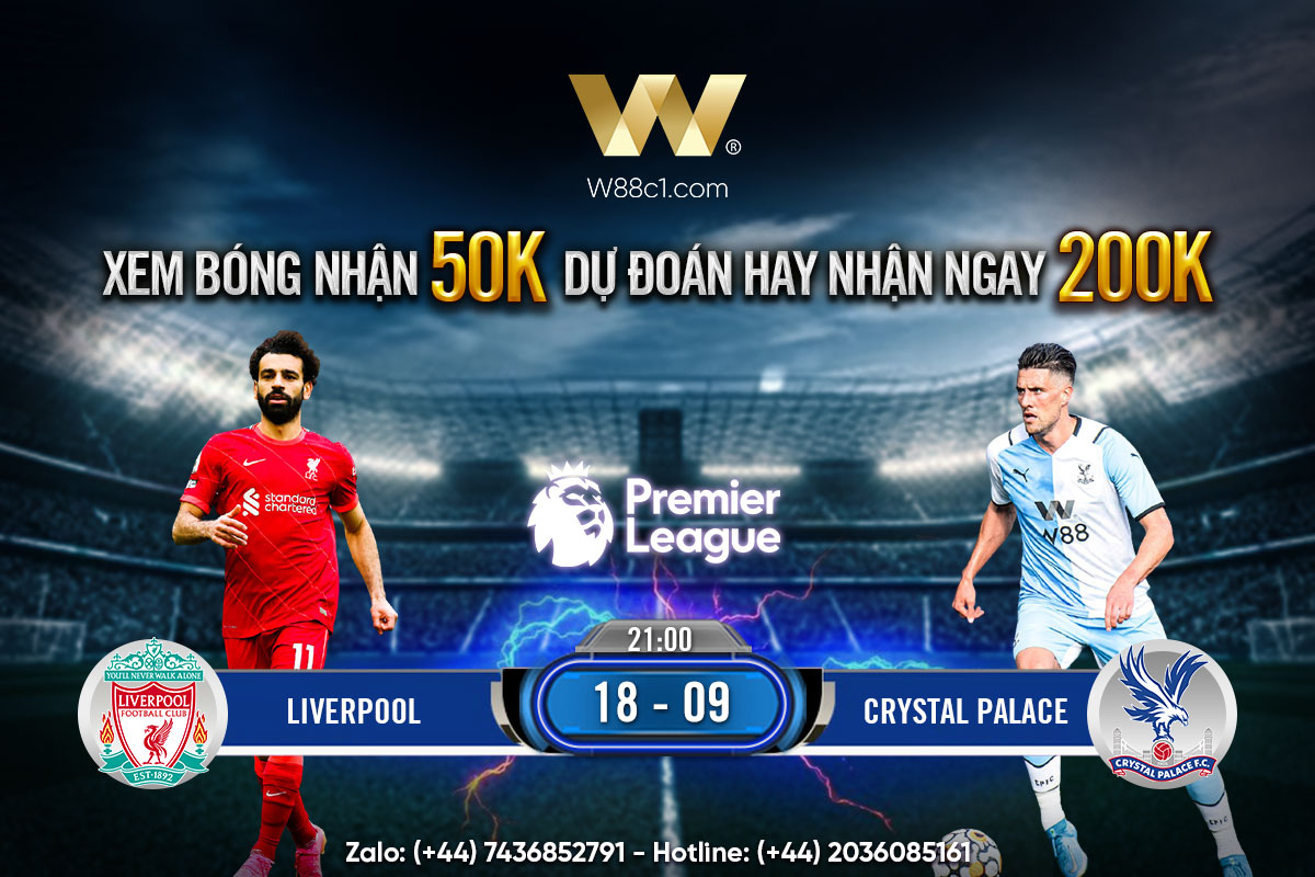 You are currently viewing [W88 – MINIGAME] LIVERPOOL – CRYSTAL PALACE   NGOẠI HẠNG ANH   DUY TRÌ MẠCH BẤT BẠI