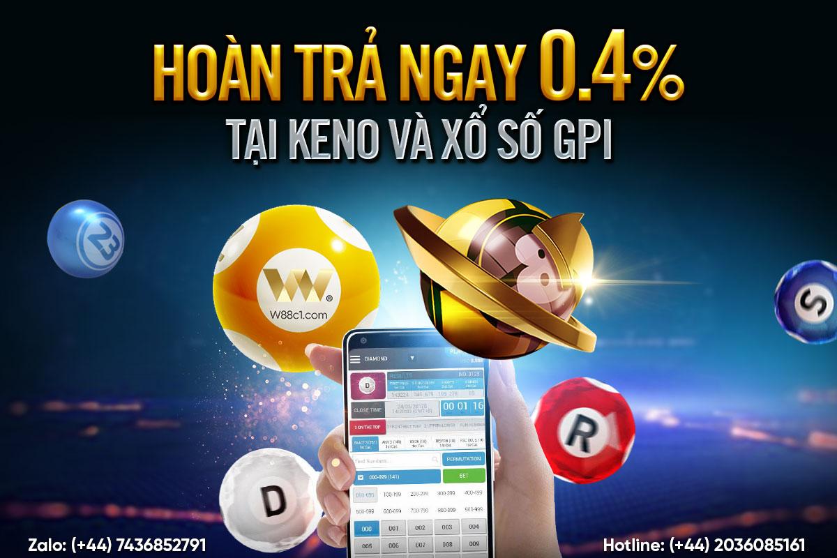 You are currently viewing HOÀN TRẢ NGAY 0.4% TẠI KENO & XỔ SỐ GPI